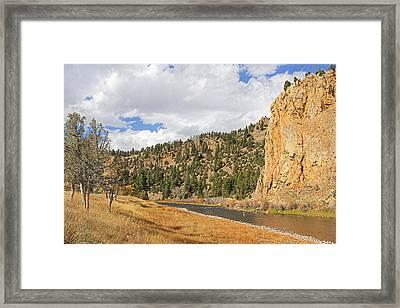 Fly Fishing The Big Hole River Montana Framed Print