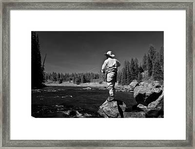 Framed Print featuring the photograph Fly Fishing The Box by Ron White