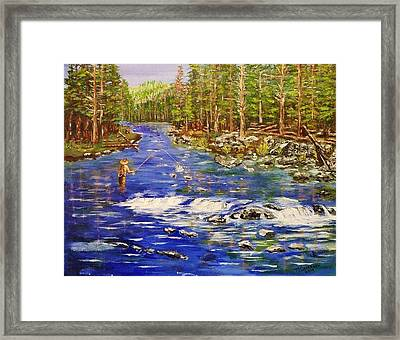 Fly Fishing The Sierras Framed Print