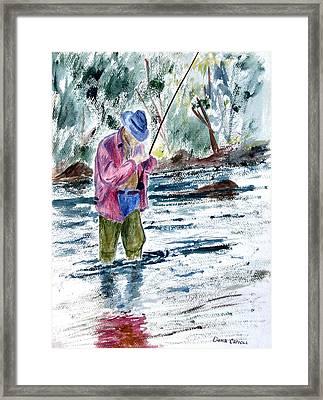 Fly Fishing The South Platte River Framed Print by Dana Carroll