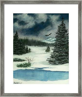 Framed Print featuring the painting Fly For Me by Dan Wagner