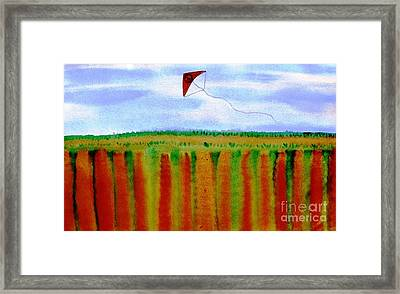...fly For Peace And Freedom... Framed Print by Jutta Gabriel