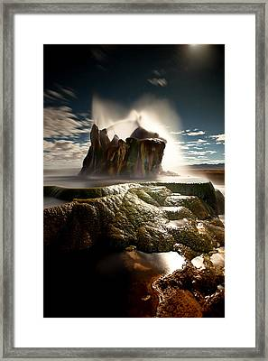 Fly Geyser @ Night Framed Print by Deryk Baumgaertner