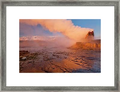 Fly Geyser In The Black Rock Desert Framed Print by Chuck Haney