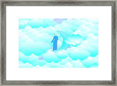 Fly In The Sky Framed Print by Islamic Cards