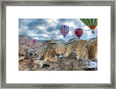 Fly Into Kappadokia Framed Print by Juergen Klust