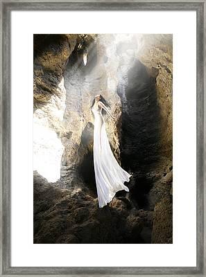 Fly Into The Light Framed Print by Bijan Studio