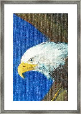 Framed Print featuring the painting Fly Like The Eagle by Jane  See
