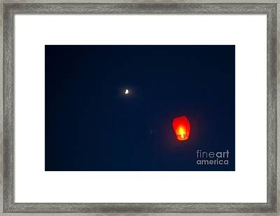 Fly Me To The Moon Framed Print by Howard Tenke