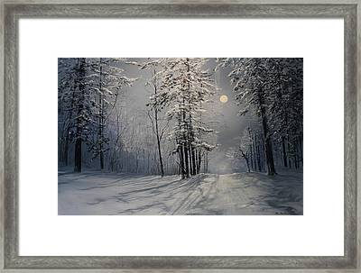 Fly Me To The Moon Framed Print by Ken Ahlering
