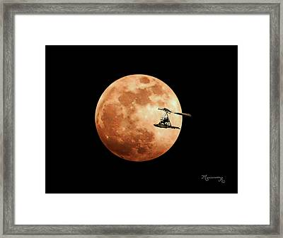 Fly Me To The Moon Framed Print by Mariarosa Rockefeller