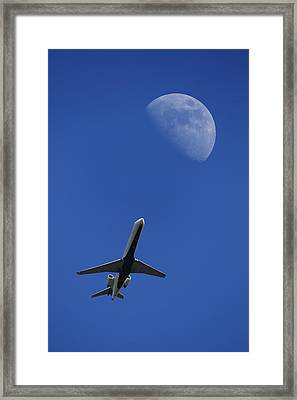 Fly Me To The Moon Framed Print