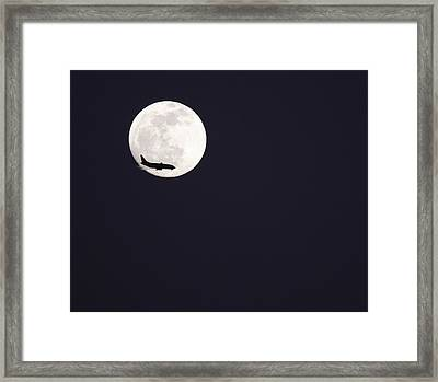 Fly Me To The Moon Framed Print by Nathan Rupert