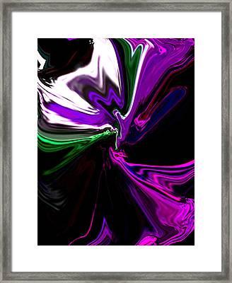 Purple Rain Homage To Prince Original Abstract Art Painting Framed Print