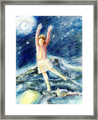 Fly Me To The Moon Framed Print by Trudi Doyle