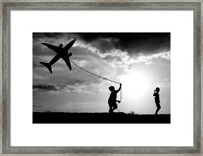Fly My Plane Framed Print