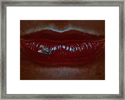 Fly On Lip Framed Print