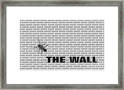 Fly On The Wall Framed Print by Methune Hively