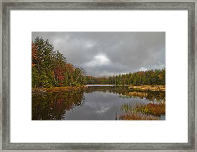Fly Pond Near Old Forge New York Framed Print