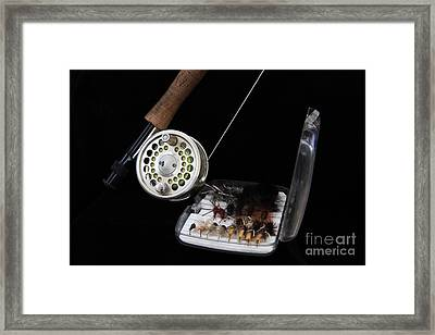Fly Rod And Fly's Framed Print