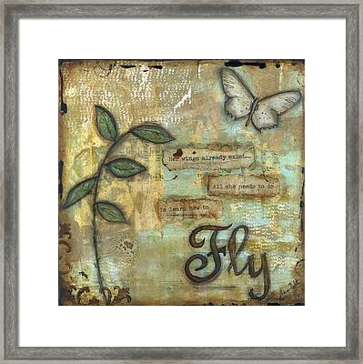 Fly Framed Print by Shawn Petite