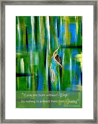 Fly Without Wings Framed Print by The Art With A Heart By Charlotte Phillips
