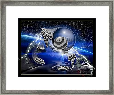 Flybye Eights Framed Print by Draw Shots