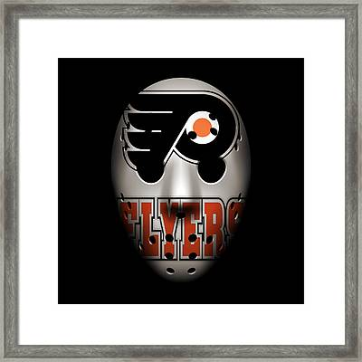 Flyers Goalie Mask Framed Print