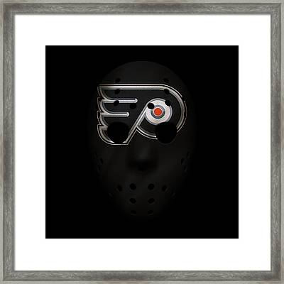 Flyers Jersey Mask Framed Print