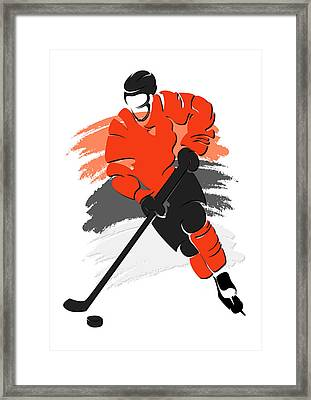 Flyers Shadow Player2 Framed Print by Joe Hamilton
