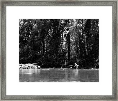 Flyfishing In The Watauga Framed Print