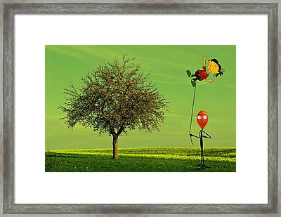 Flying A Balloon In A Parallel Universe Framed Print by David Dehner