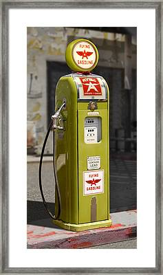 Flying A Gasoline - National Gas Pump Framed Print by Mike McGlothlen