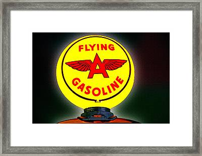 Flying A Framed Print