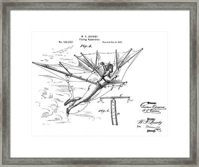 Flying Apparatus Patent Framed Print