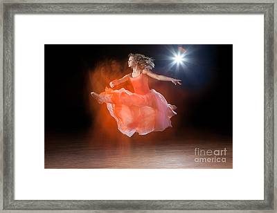 Flying Ballerina Framed Print by Cindy Singleton