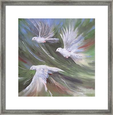 Flying Birds Framed Print by Paula Marsh