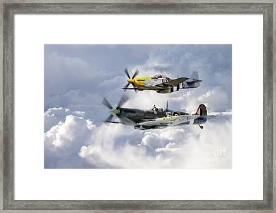Flying Brothers Framed Print by J Biggadike