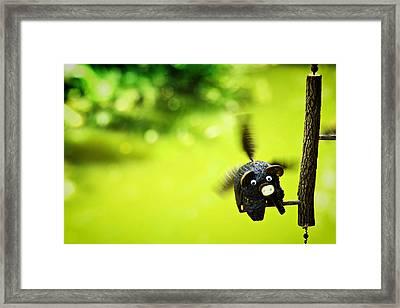 Flying Burin Framed Print