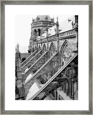 Flying Buttresses Bw Framed Print