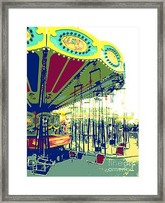 Framed Print featuring the digital art Flying Chairs by Valerie Reeves