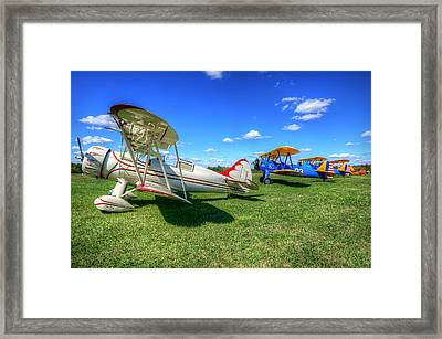 Framed Print featuring the photograph Flying Circus by Michael Donahue