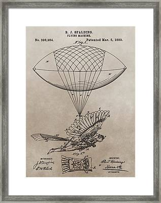Flying Contraption Patent Framed Print by Dan Sproul