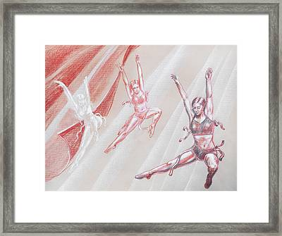 Flying Dancers  Framed Print by Irina Sztukowski