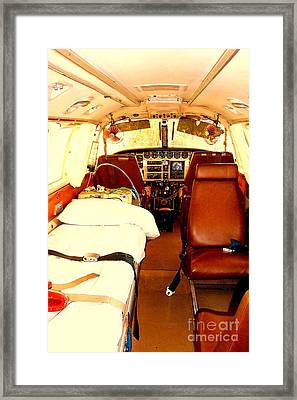 Flying Doctor Plane Framed Print by John Potts