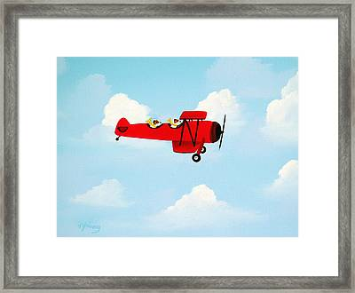 Flying Duo Framed Print by Todd Young