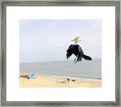 Flying Evil With Bad Intentions Framed Print