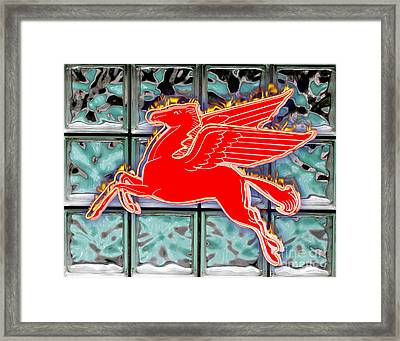 Flying Fire Horse Framed Print by Keith Dillon