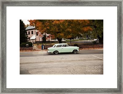 Flying Ford Anglia Framed Print by Brenda Giasson