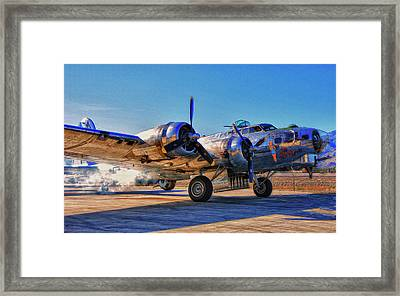 Flying Fortress Sentimental Journey Framed Print